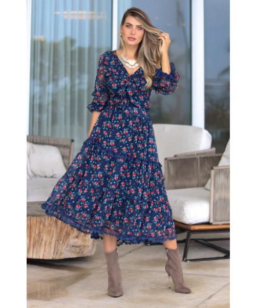 Vestido Floral Karina por Luzia Fazzolli