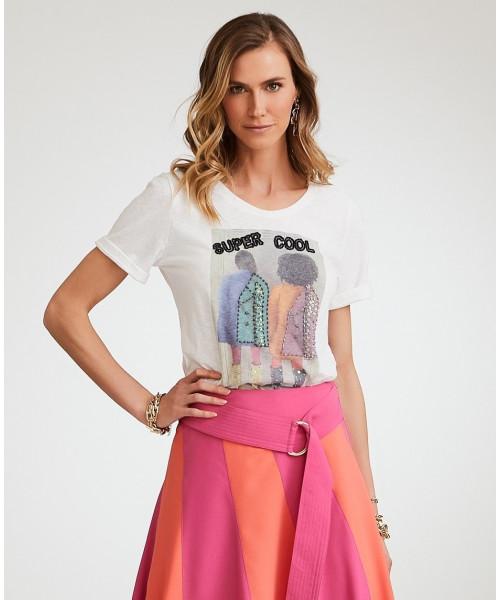 T-Shirt Malha Off Luzia Fazzolli