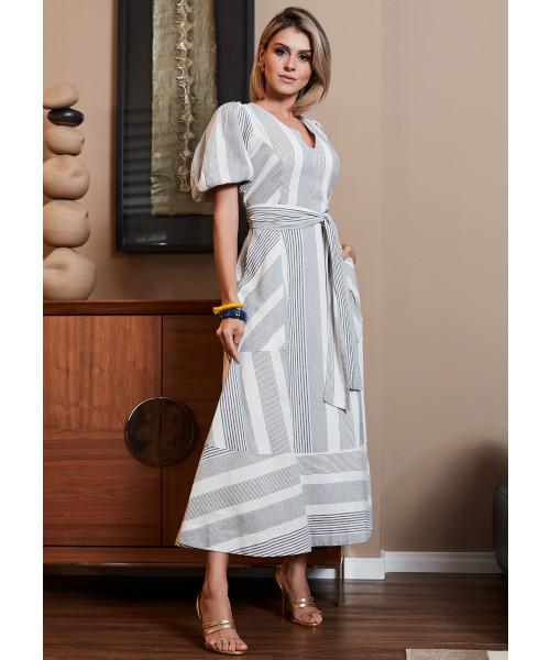 Vestido Linho Luzia Fazzolli