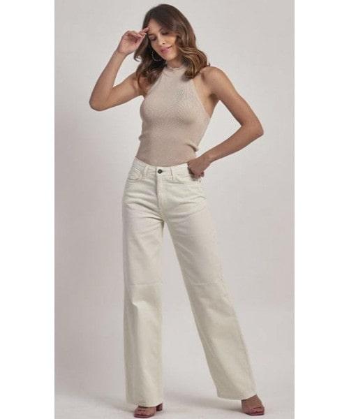 Calça Jeans Wide Leg Off-White